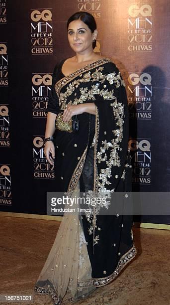 'MUMBAI INDIA SEPTEMBER 30 Actress Vidya Balan attending GQ Men Of The Year 2012 Award at Grand Hayyat on September 30 2012 in Mumbai India '