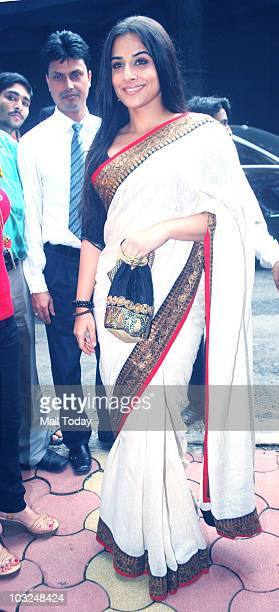 Actress Vidya Balan during the launch of the book of 'The Maruti Story' in Mumbai on August 4 2010