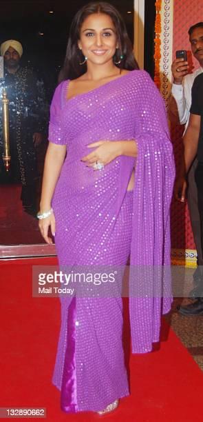 Actress Vidya Balan during the seventh anniversary party of Indian television Hindi programme 'Saa Bahu aur Saazish' in Mumbai on November 13 2011