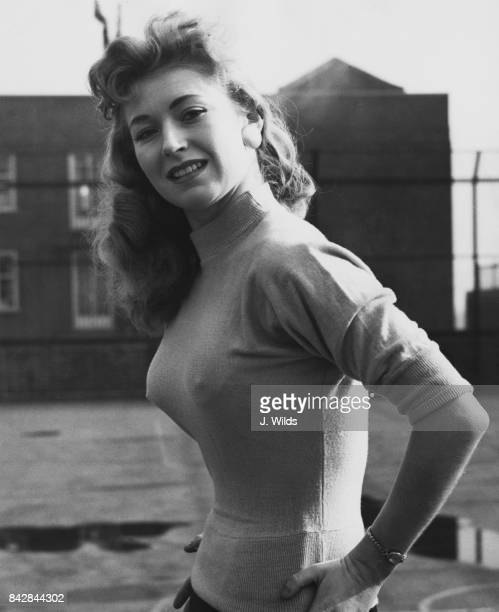 Actress Vikki Hammond in London England 23rd February 1957 She married actor Peter Colville four weeks earlier