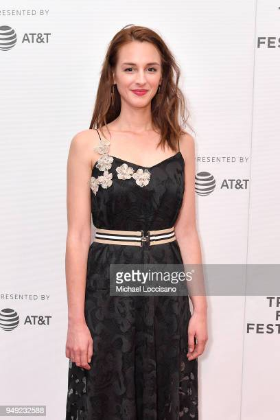 Actress Viky Papadopoulou attends the screening of 'Smuggling Hendrix' during the Tribeca Film Festival at Cinepolis Chelsea on April 20 2018 in New...