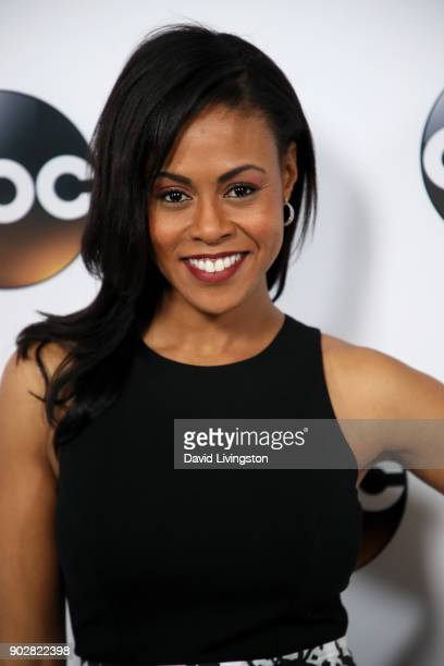 Actress Vinessa Antoine attends Disney ABC Television Group's TCA Winter Press Tour 2018 at The Langham Huntington Pasadena on January 8 2018 in...
