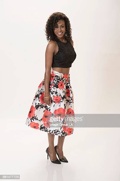 Actress Vinessa Antoine poses for a portraits at the Beverly Hills Ballroom of The Beverly Hilton in Beverly Hills at Disney | ABC Television Group's...