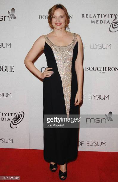 Actress Vinessa Shaw arrives at The Art of Elysium's 3rd Annual BlackTie Charity Gala Heaven at 9900 Wilshire Blvd on January 16 2010 in Beverly...