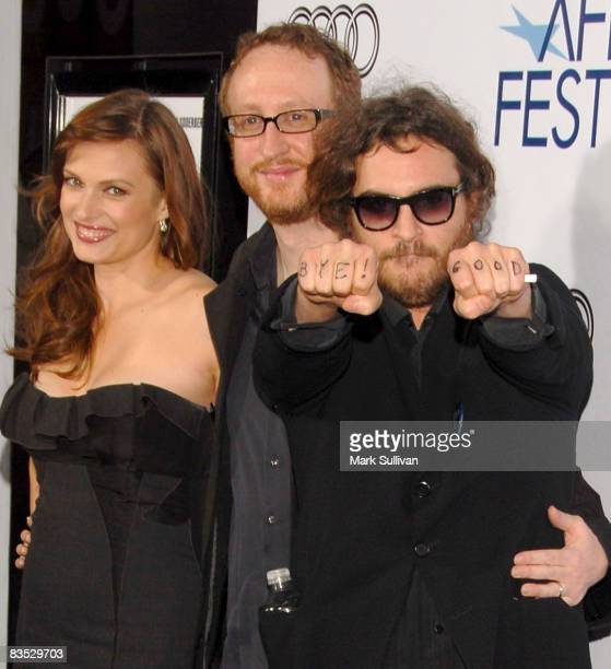 Actress Vinessa Shaw director/screenwriter James Gray and actor Joaquin Phoenix attend the 2008 AFI Film Festival Centerpiece Gala screening of Che...