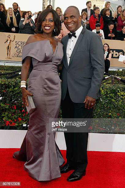 Actress Viola Davis and actor Julius Tennon attend the 22nd Annual Screen Actors Guild Awards at The Shrine Auditorium on January 30 2016 in Los...