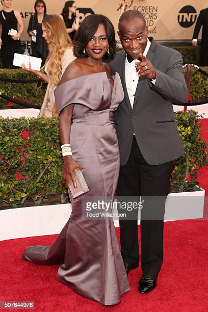 Actress Viola Davis and actor Julius Tennon attend the 22nd Annual Screen Actors Guild Awards at The Shrine Auditorium on January 30, 2016 in Los...