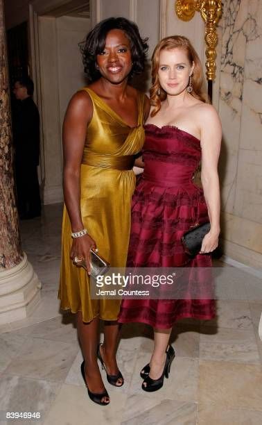 Actress Viola Davis and Actress Amy Adams attend the premiere after party for 'Doubt' at The Metropolitan Club on December 7 2008 in New York City