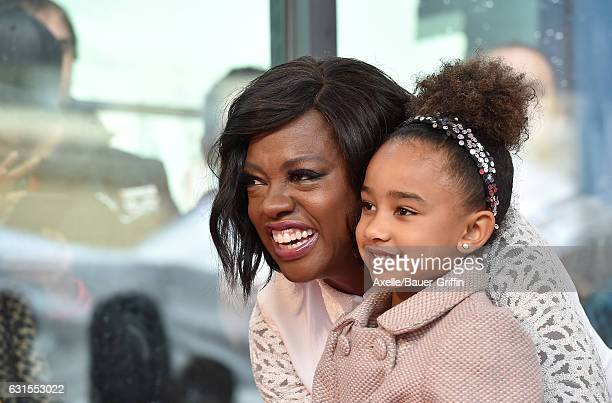 Actress Viola Davis and daughter Genesis Tennon attend the ceremony honoring Viola Davis with star on the Hollywood Walk of Fame on January 5 2017 in...