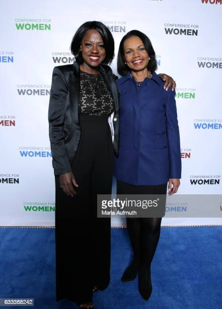 Actress Viola Davis and former United States Secretary of State Condoleezza Rice attend the Watermark Conference for Women at San Jose Convention...