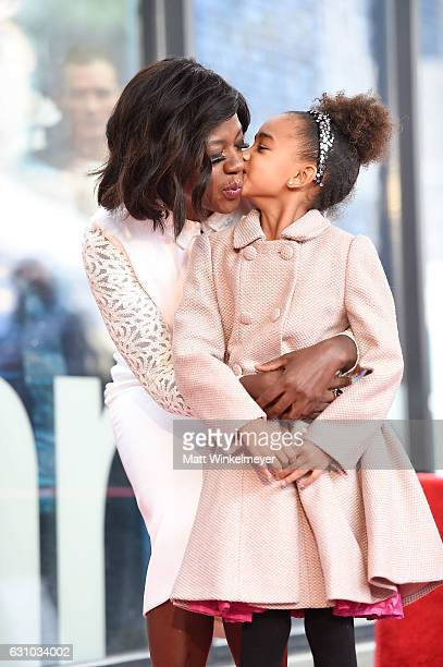Actress Viola Davis and her daughter Genesis Tennon attend a ceremony honoing Viola Davis with a star on the Hollywood Walk of Fame on January 5 2017...
