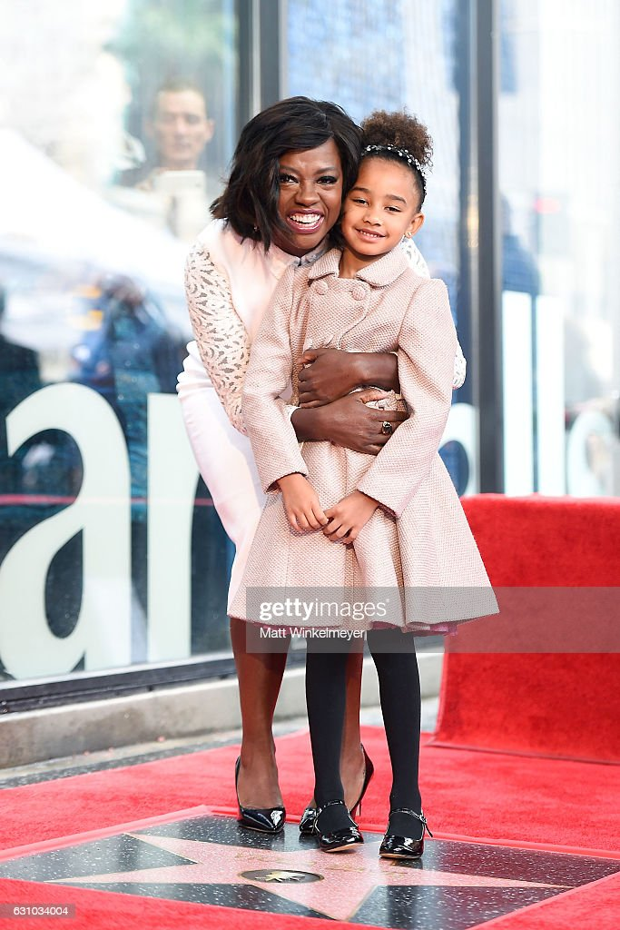 Actress Viola Davis (L) and her daughter Genesis Tennon attend a ceremony honoing Viola Davis with a star on the Hollywood Walk of Fame on January 5, 2017 in Hollywood, California.