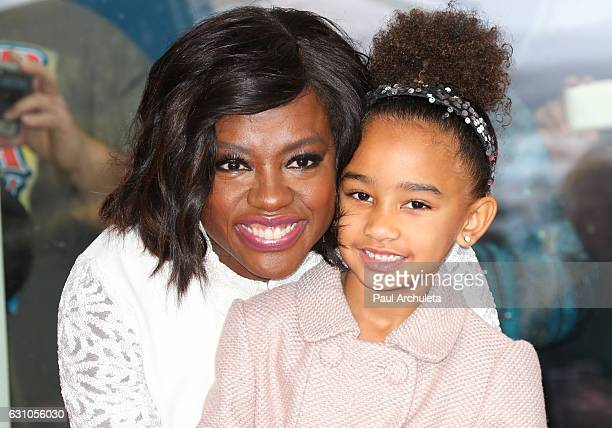 Actress Viola Davis and her Daughter Genesis Tennon attend the ceremony to honor Viola Davis with a Star On The Hollywood Walk Of Fame on January 5...