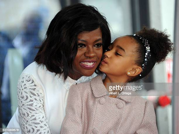Actress Viola Davis and her daughter Genesis Tennon attends her Star ceremony on the Hollywood Walk of Fame on January 5 2017 in Hollywood California