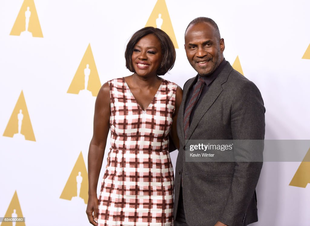 Actress Viola Davis (L) and Julius Tennon attend the 89th Annual Academy Awards Nominee Luncheon at The Beverly Hilton Hotel on February 6, 2017 in Beverly Hills, California.