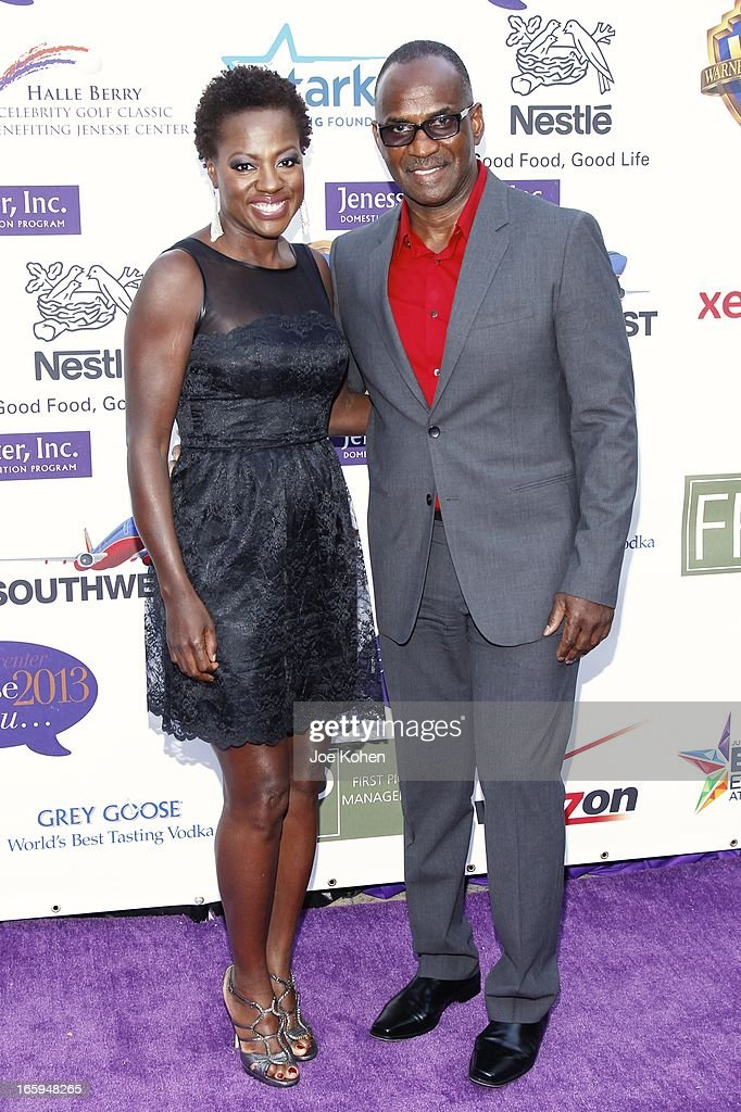 Actress Viola Davis (L) and Julius Tennon attend the Jenesse Silver Rose Gala And Auction at Vibiana on April 6, 2013 in Los Angeles, California.