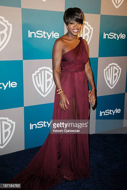 Actress Viola Davis arrives at 13th Annual Warner Bros And InStyle Golden Globe Awards After Party at The Beverly Hilton hotel on January 15 2012 in...