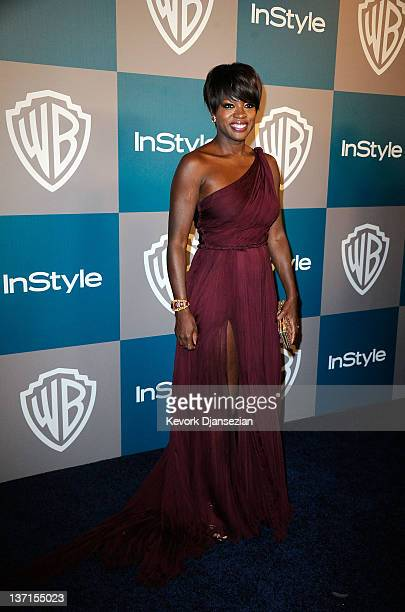 Actress Viola Davis arrives at 13th Annual Warner Bros. And InStyle Golden Globe Awards After Party at The Beverly Hilton hotel on January 15, 2012...