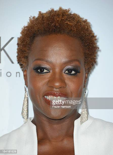 Actress Viola Davis arrives at ELLE's 19th Annual Women In Hollywood Celebration at the Four Seasons Hotel on October 15 2012 in Beverly Hills...