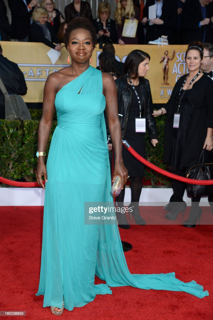 Actress Viola Davis arrives at the 19th Annual Screen Actors Guild Awards held at The Shrine Auditorium on January 27, 2013 in Los Angeles, California.