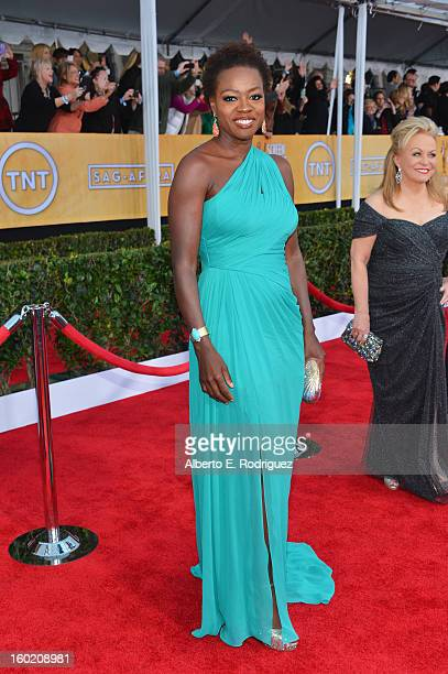 Actress Viola Davis arrives at the 19th Annual Screen Actors Guild Awards held at The Shrine Auditorium on January 27, 2013 in Los Angeles,...