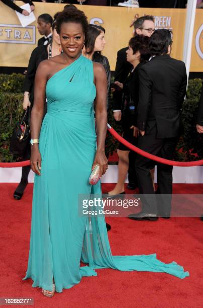 Actress Viola Davis arrives at the 19th Annual Screen Actors Guild Awards at The Shrine Auditorium on January 27 2013 in Los Angeles California