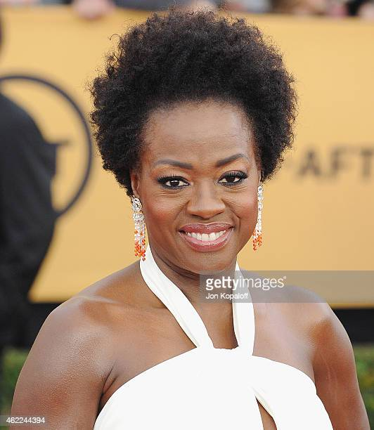 Actress Viola Davis arrives at the 21st Annual Screen Actors Guild Awards at The Shrine Auditorium on January 25 2015 in Los Angeles California