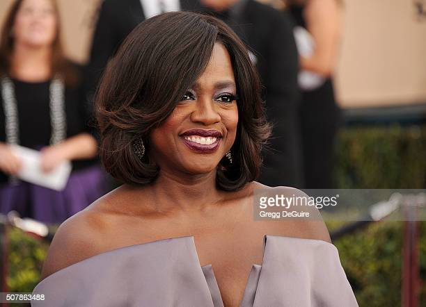 Actress Viola Davis arrives at the 22nd Annual Screen Actors Guild Awards at The Shrine Auditorium on January 30 2016 in Los Angeles California
