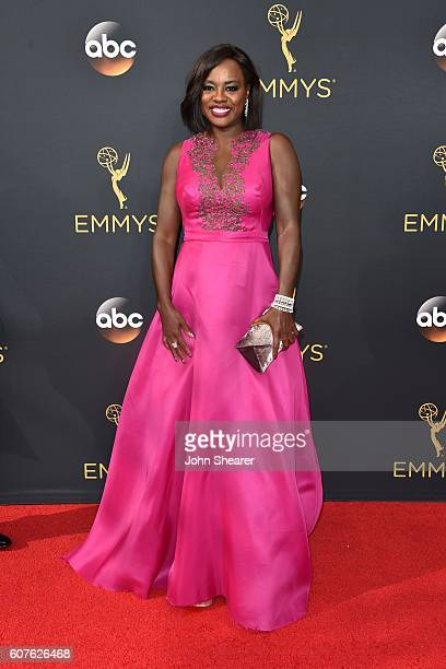 Actress Viola Davis arrives at the 68th Annual Primetime Emmy Awards at Microsoft Theater on September 18, 2016 in Los Angeles, California.
