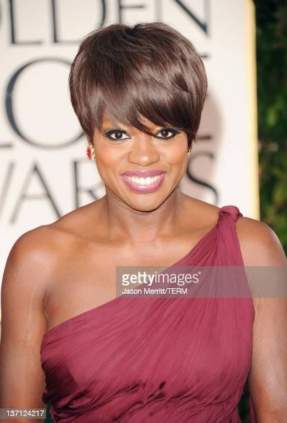 Actress Viola Davis arrives at the 69th Annual Golden Globe Awards held at the Beverly Hilton Hotel on January 15 2012 in Beverly Hills California
