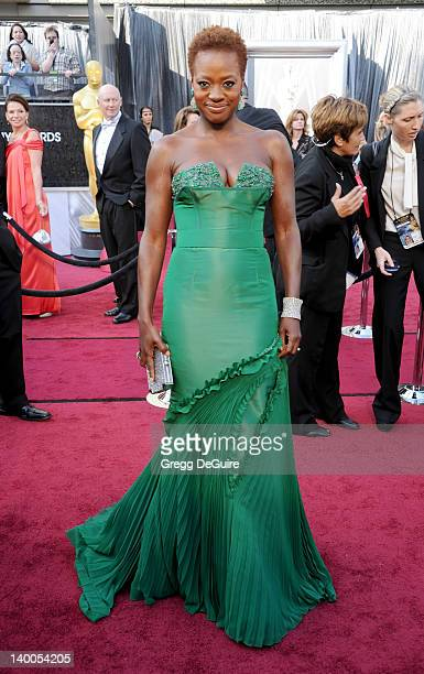 Actress Viola Davis arrives at the 84th Annual Academy Awards at Hollywood Highland Center on February 26 2012 in Hollywood California