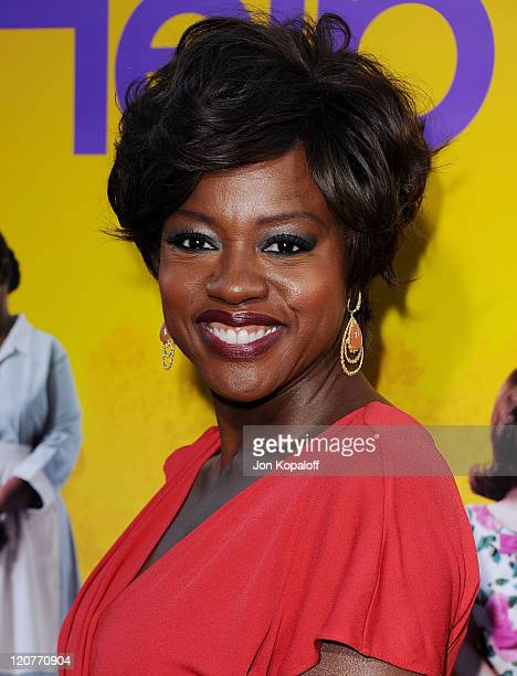Actress Viola Davis arrives at the Los Angeles Premiere The Help at AMPAS Samuel Goldwyn Theater on August 9 2011 in Beverly Hills California