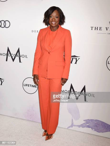 Actress Viola Davis arrives at the Variety's Power Of Women Los Angeles at the Beverly Wilshire Four Seasons Hotel on October 13 2017 in Beverly...