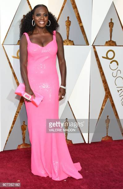 Actress Viola Davis arrives for the 90th Annual Academy Awards on March 4 in Hollywood California / AFP PHOTO / VALERIE MACON