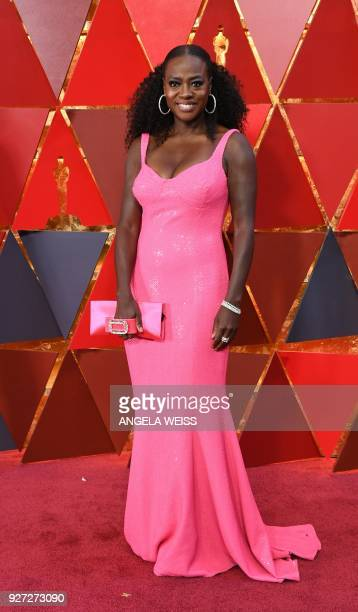 Actress Viola Davis arrives for the 90th Annual Academy Awards on March 4 in Hollywood California / AFP PHOTO / ANGELA WEISS