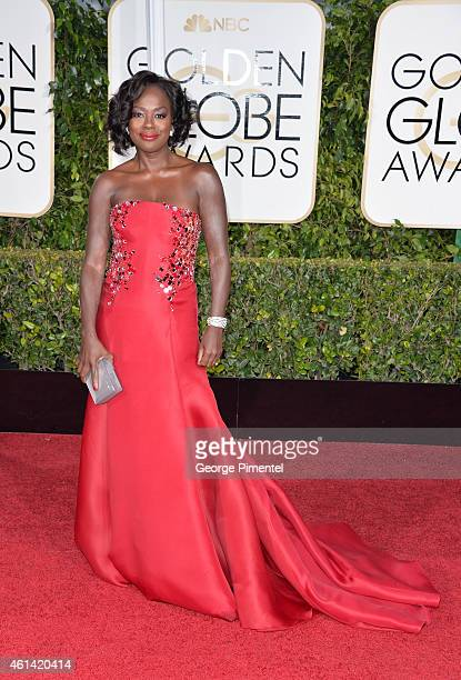 Actress Viola Davis attend the 72nd Annual Golden Globe Awards at The Beverly Hilton Hotel on January 11 2015 in Beverly Hills California