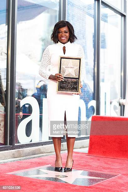 Actress Viola Davis attends a ceremony honoing her with a star on the Hollywood Walk of Fame on January 5 2017 in Hollywood California