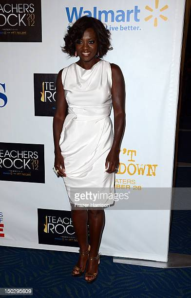 Actress Viola Davis attends CBS' Teacher's Rock Special Live Concert Press Room at Nokia Theatre LA Live on August 14 2012 in Los Angeles California
