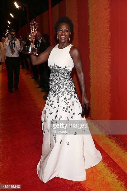 Actress Viola Davis attends HBO's Official 2015 Emmy After Party at The Plaza at the Pacific Design Center on September 20 2015 in Los Angeles...