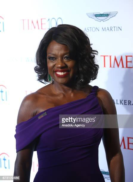 Actress Viola Davis attends the 2017 TIME 100 Gala at Jazz at Lincoln Center in New York United States on April 25 2017