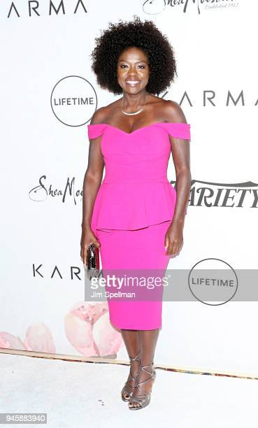Actress Viola Davis attends the 2018 Variety's Power of Women New York at Cipriani Wall Street on April 13 2018 in New York City