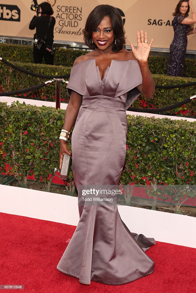 Actress Viola Davis attends the 22nd Annual Screen Actors Guild Awards at The Shrine Auditorium on January 30, 2016 in Los Angeles, California.