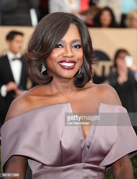 Actress Viola Davis attends the 22nd Annual Screen Actors Guild Awards at The Shrine Auditorium on January 30 2016 in Los Angeles California