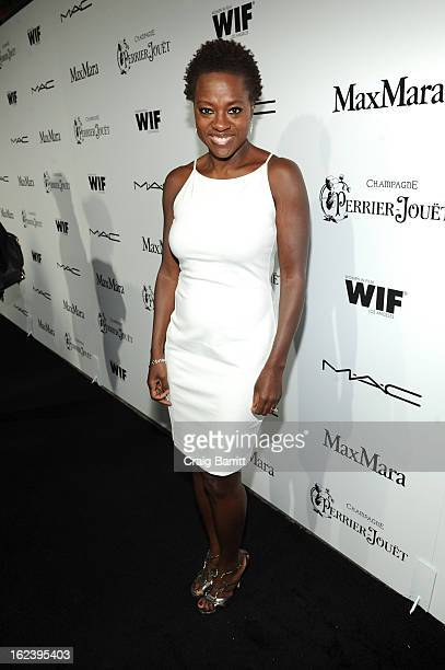 Actress Viola Davis attends the 6th Annual Women In Film PreOscar Party hosted by Perrier Jouet MAC Cosmetics and MaxMara at Fig Olive on February 22...