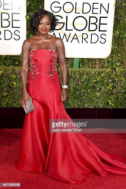 Actress Viola Davis attends the 72nd Annual Golden Globe Awards at The Beverly Hilton Hotel on January 11 2015 in Beverly Hills California