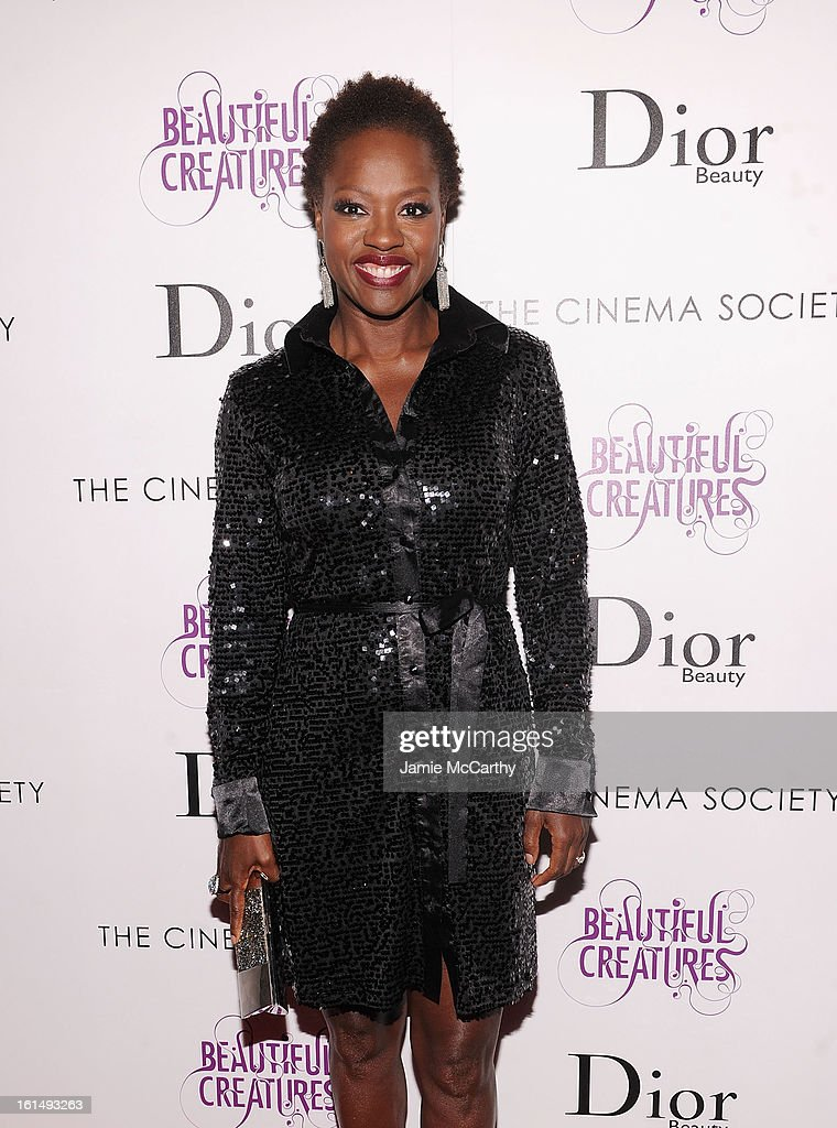 Actress Viola Davis attends The Cinema Society And Dior Beauty Presents A Screening Of 'Beautiful Creatures' at Tribeca Cinemas on February 11, 2013 in New York City.