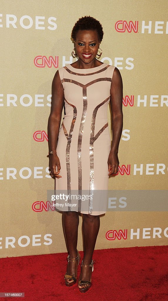 Actress Viola Davis attends the CNN Heroes: An All Star Tribute at The Shrine Auditorium on December 2, 2012 in Los Angeles, California.