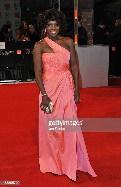 Actress Viola Davis attends the Orange British Academy Film Awards 2012 at the Royal Opera House on February 12 2012 in London England