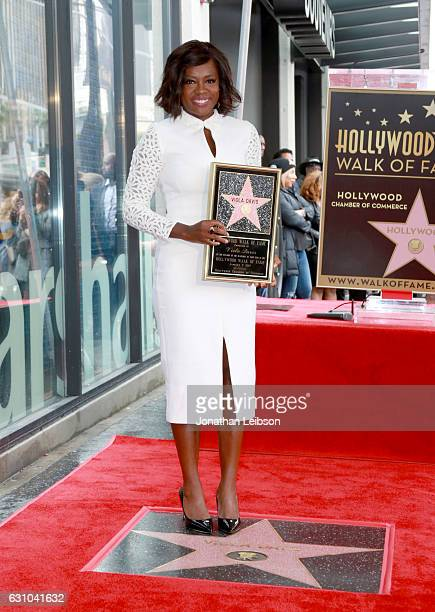 Actress Viola Davis attends the Viola Davis Walk Of Fame Ceremony at Hollywood Walk Of Fame on January 5 2017 in Hollywood California