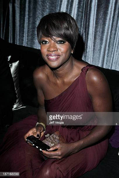 Actress Viola Davis attends The Weinstein Company's 2012 Golden Globe Awards After Party with Chopard Marie Claire and HP at The Beverly Hilton hotel...